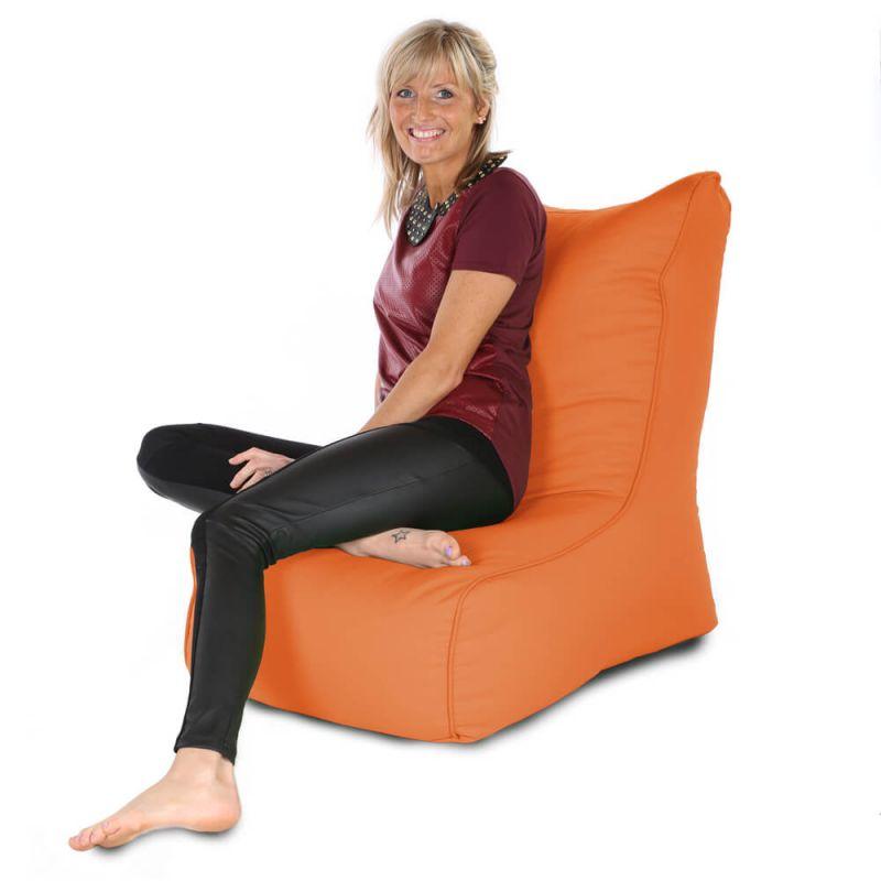 Indoor & Outdoor Comfy Adult Chair Bean Bag - Orange