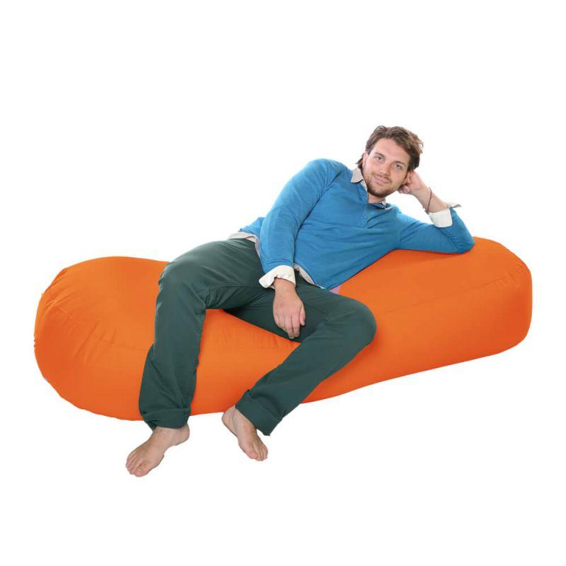Vibe 6ft Bean Sofa Bean Bag - Orange