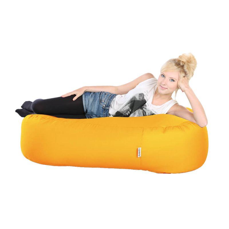 Indoor & Outdoor Ottoman Bean Bag - Yellow