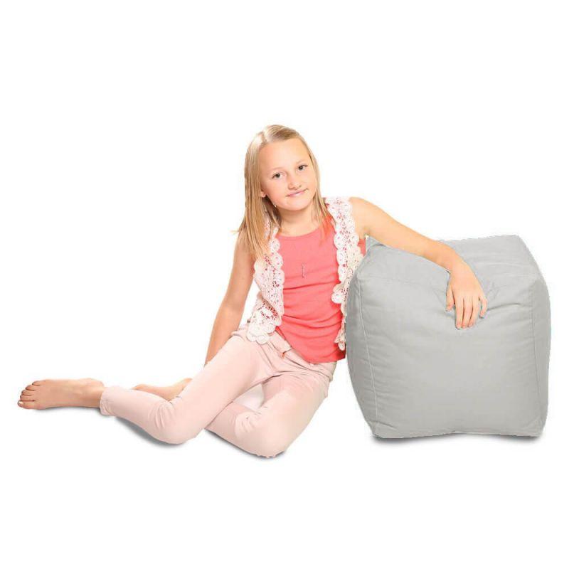 Indoor & Outdoor Cube Bean Bag - Platinum Grey