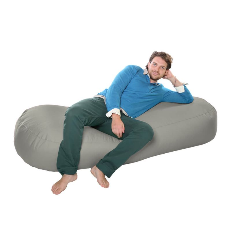 Vibe 6ft Bean Sofa Bean Bag - Platinum Grey
