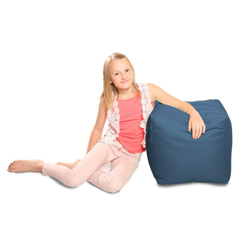 Indoor & Outdoor Cube Bean Bag - Royal Blue