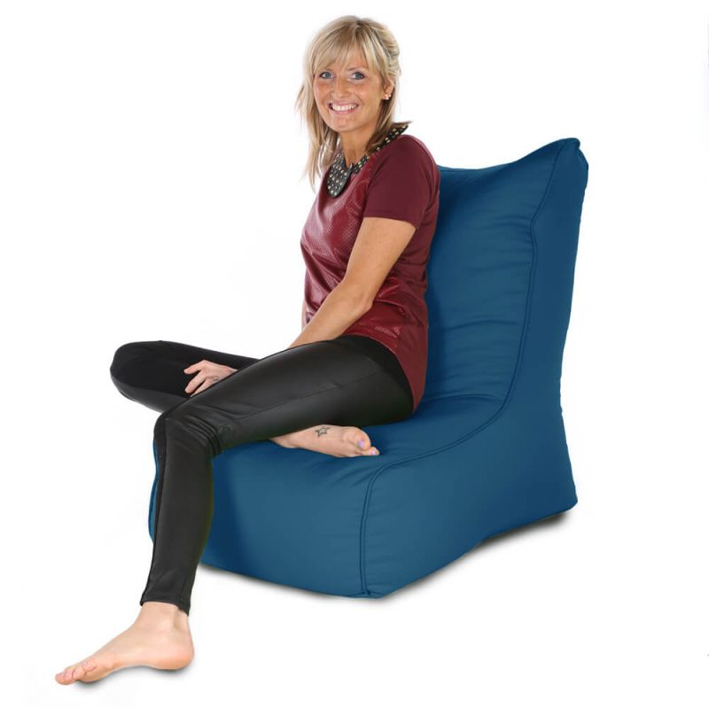 Indoor & Outdoor Comfy Adult Chair Bean Bag - Royal Blue