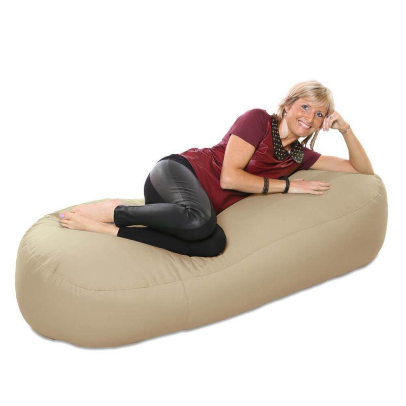 Vibe 5ft Bean Sofa Bean Bag - Stone