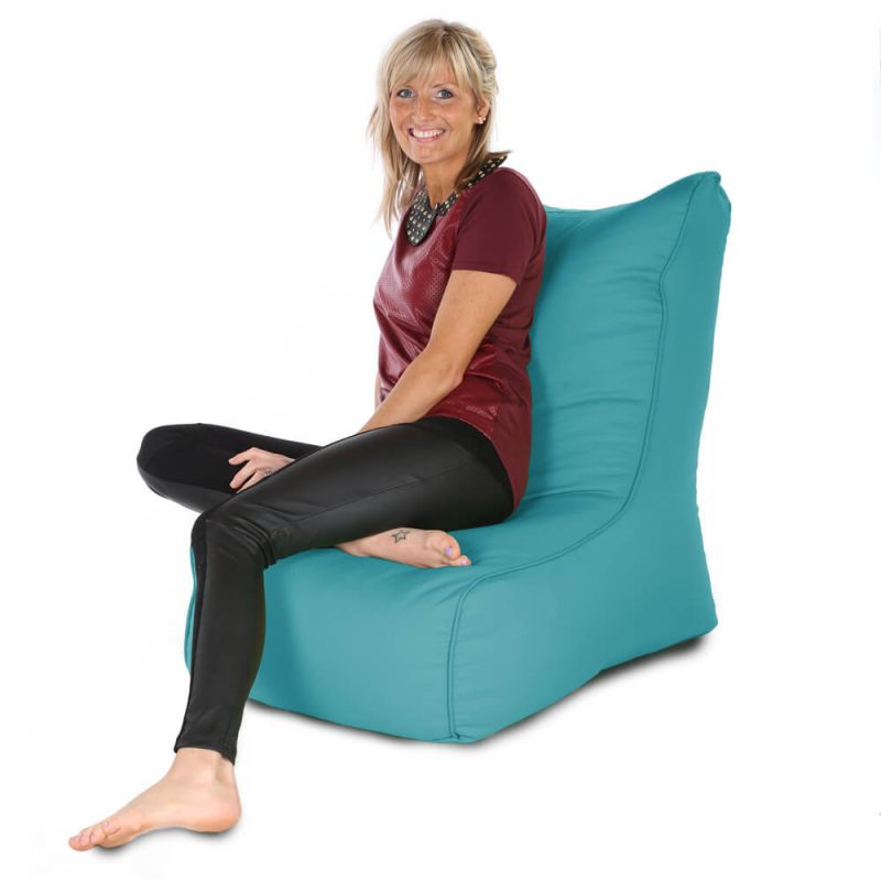 Indoor & Outdoor Comfy Adult Chair Bean Bag - Turquoise