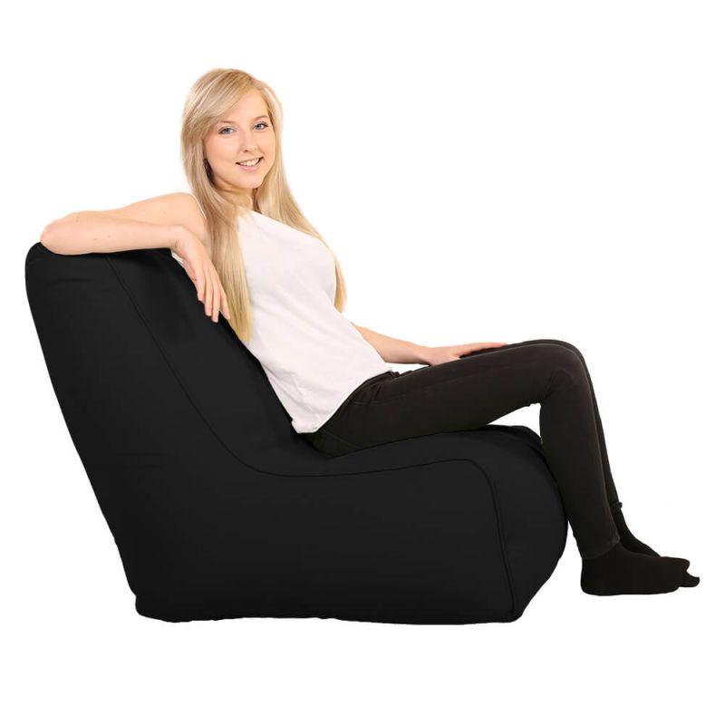 Vibe Comfy Adult Chair Bean Bag - Black