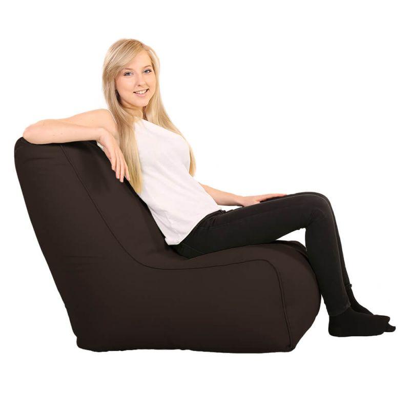 Vibe Comfy Adult Chair Bean Bag - Brown