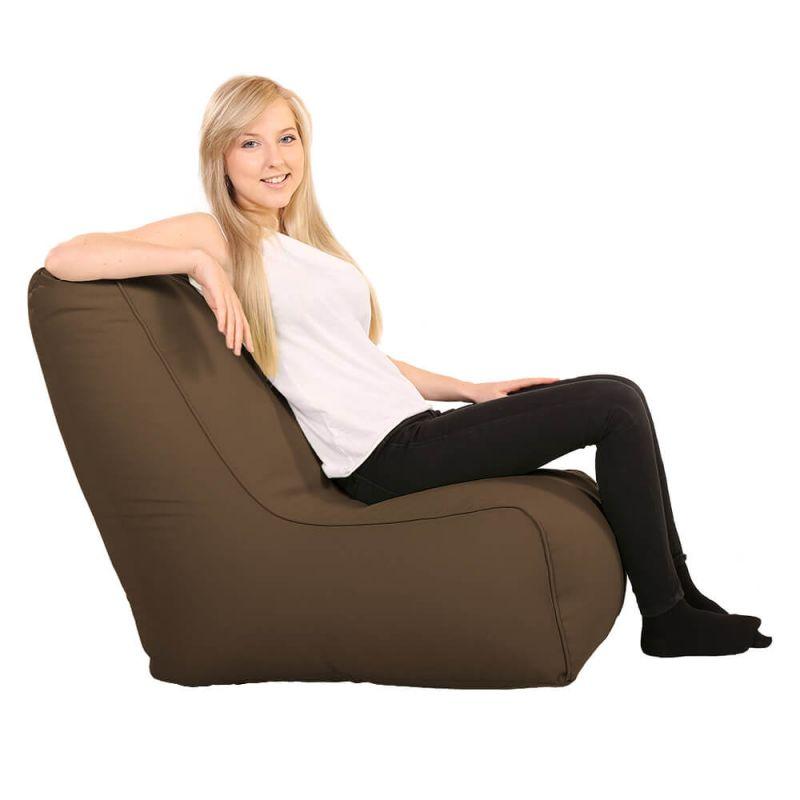 Vibe Comfy Adult Chair Bean Bag - Chocolate Brown