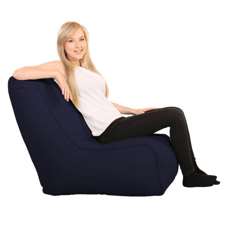 Vibe Comfy Adult Chair Bean Bag - Navy Blue