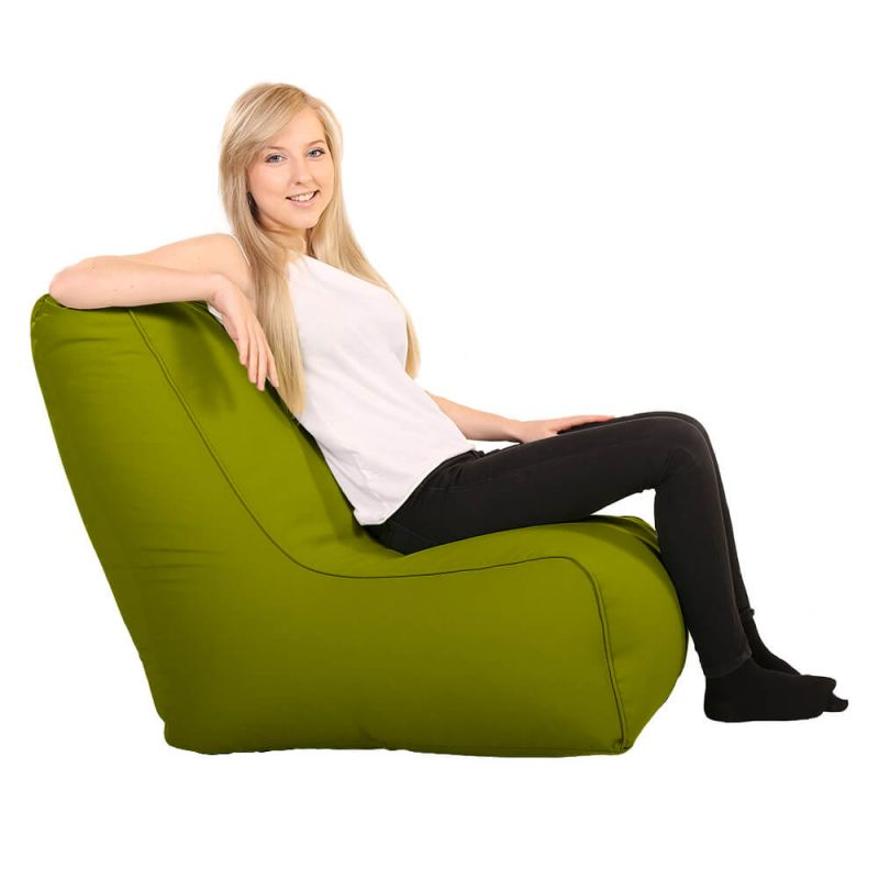 Vibe Comfy Adult Chair Bean Bag - Olive Green
