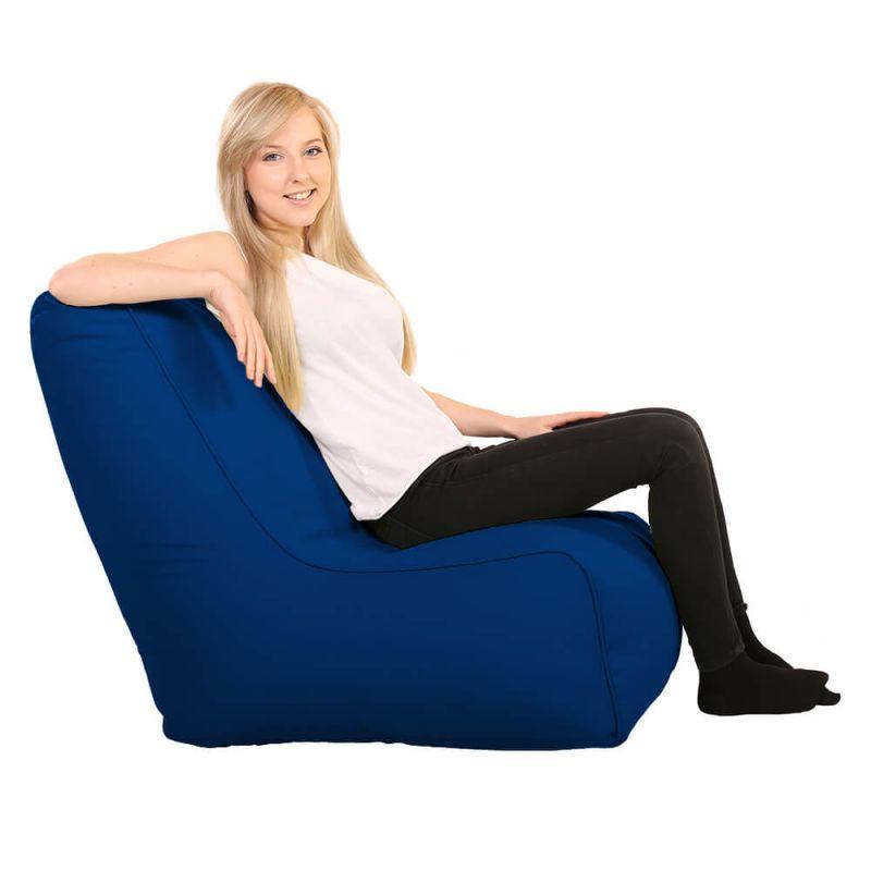 Vibe Comfy Adult Chair Bean Bag - Royal Blue