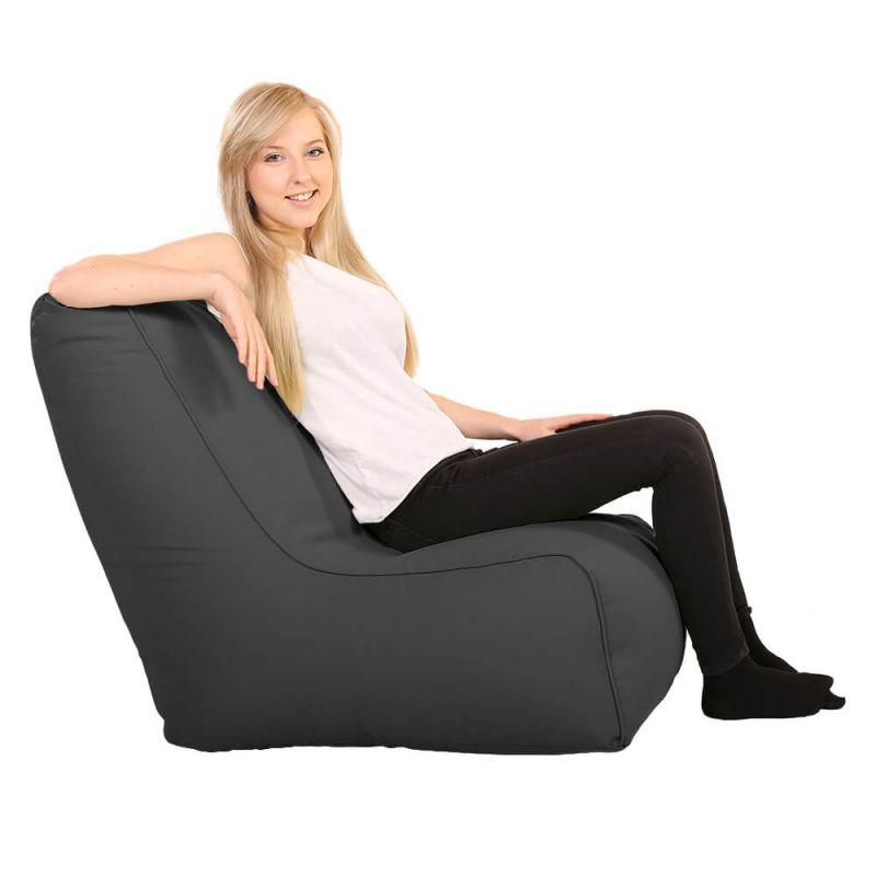 Vibe Comfy Adult Chair Bean Bag - Slate Grey