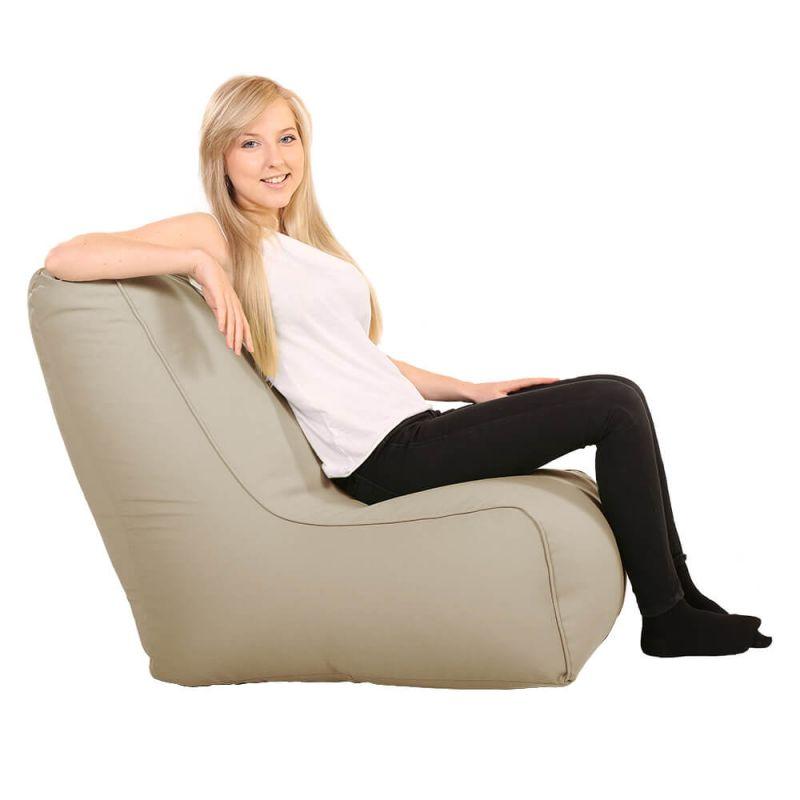 Vibe Comfy Adult Chair Bean Bag - Stone