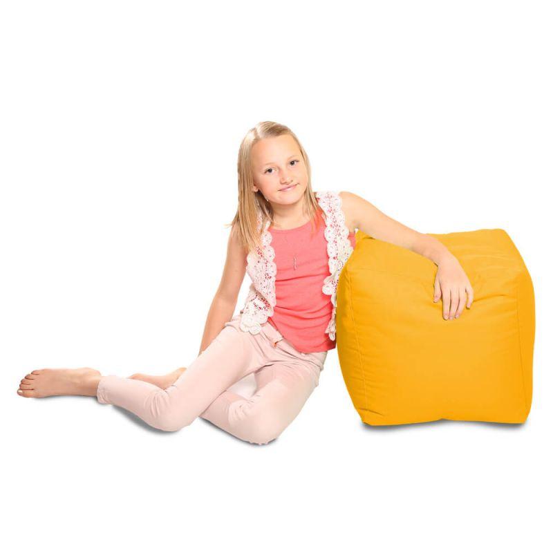 Indoor & Outdoor Cube Bean Bag - Yellow