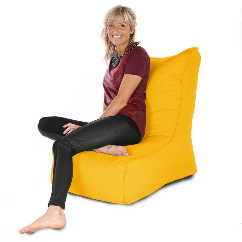 Indoor & Outdoor Comfy Adult Chair Bean Bag - Yellow